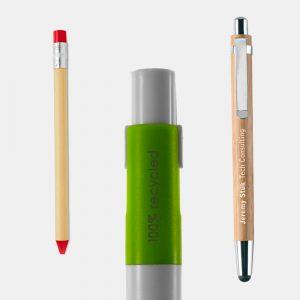 Penne e matite ecologiche