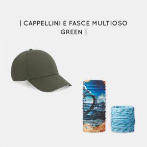 Cappellini e fasce multiuso personalizzabili green