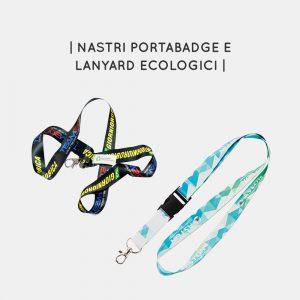 Nastri portabadge e lanyard aziendali ecologici personalizzabili