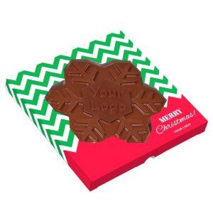 Cioccolato a forma di fiocco di neve